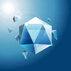 Abstract crystal background. Vector Illustration