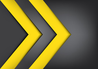 Black and yellow vector background overlap dimension,warning sig