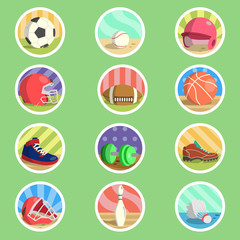 Sport Equipment Flat Icon
