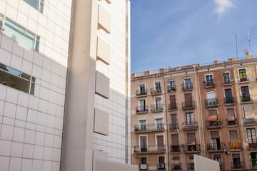 Facciata di un Condominio, Barcellona, Spagna