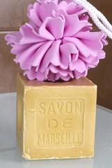 savon de Marseille et douche