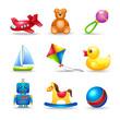 Baby Toys Icons Set