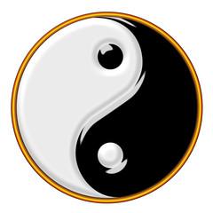 Simbolo Yin e Yang stilizzato