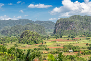 Scenic view of the Vinales Valley in Cuba