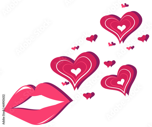 Lips and hearts