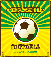 Brazilian football poster.