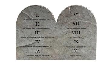 realistic 3d render of ten commandments