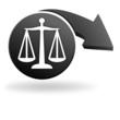 justice sur symbole noir