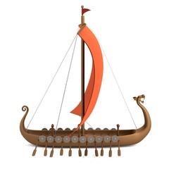 realistic 3d render of viking ship