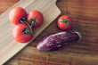 tomatoes and aubergine