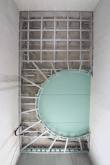 Metal frame to install decorative ceiling in shape of arc