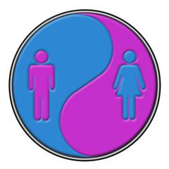 Simbolo yin-yang uomo-donna