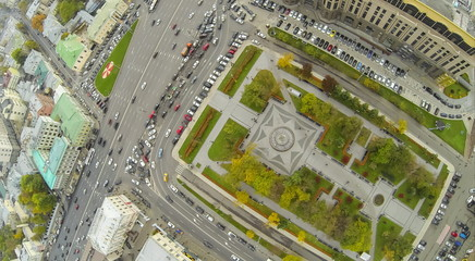 The intersection of the Garden Ring and Kudrinskaya Square