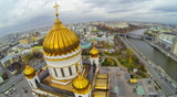 View from unmanned quadrocopter on Christ the Savior Cathedral poster