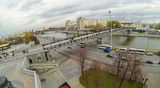 View from unmanned quadrocopter to Bridge poster