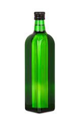 Flasche Rapsöl mit Schraubverschluß, isoliert
