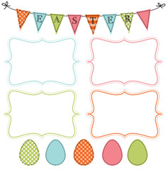 Easter or spring design template