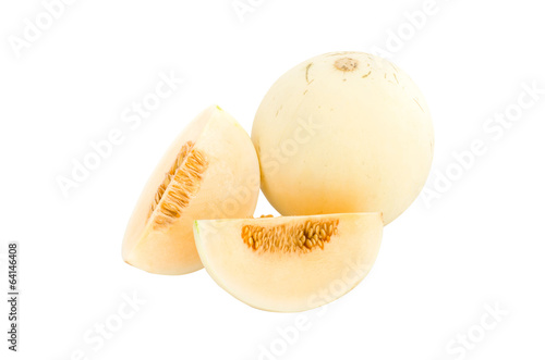 Cantaloupe isolated on whited background