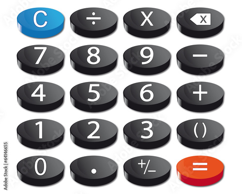 Calculator keyboard with cancel button