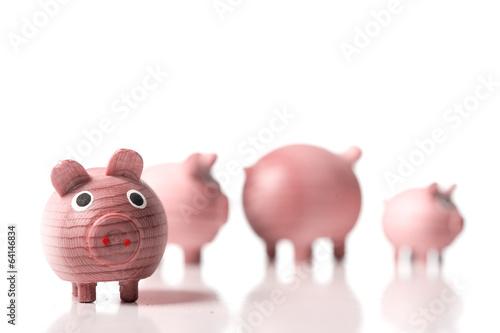canvas print picture Schweinefamilie