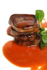 Gourmet meat, restaurant food