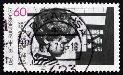 Postage stamp Germany 1979 Child and Building