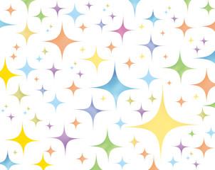 水彩絵の具・星・デザイン素材