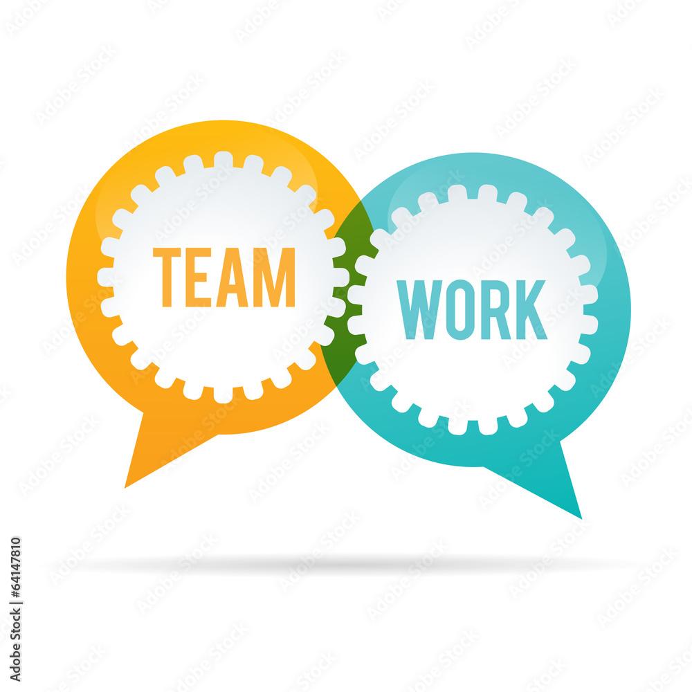 team work gear bubble wall sticker wall stickers team work gear bubble wall sticker
