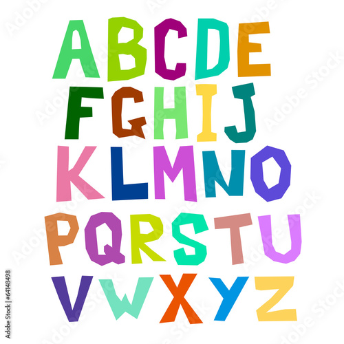 Multicolored alphabet curve
