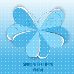 romantic blue paper butterfly background