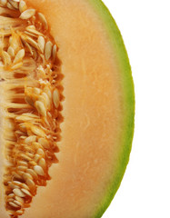 Side Of An Orange Honeydew Melon