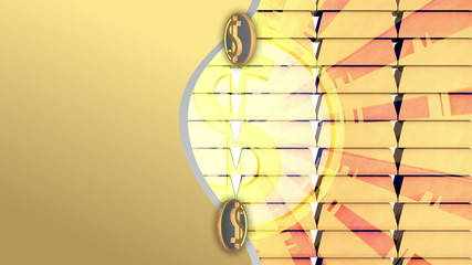 Gold and silver radial ray background, loop