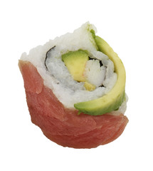 Sushi Roll With Red Fish And Avocado