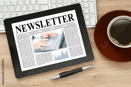 Leinwandbild Motiv Newsletter