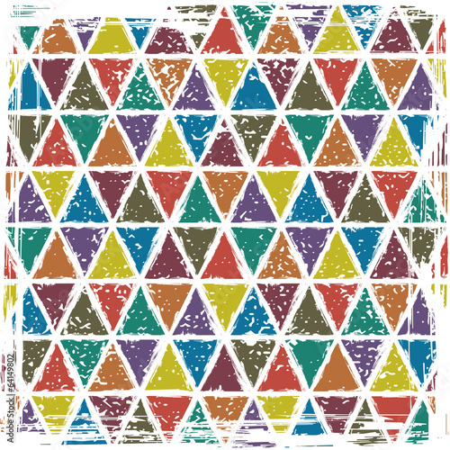 Seamless triangle grunge pattern background