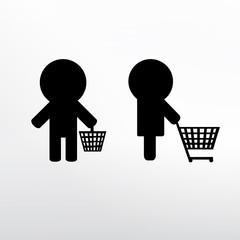 Shopping basket icone