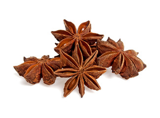 Star anise, isolated on a white background
