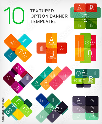 Set of infographic modern templates - stripes, lines
