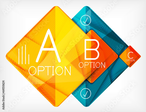 Geometric shaped option banner design template