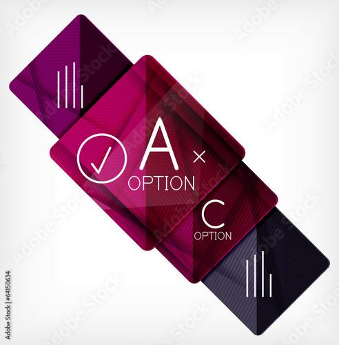 Geometric shaped option banner design template