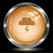 Storm. Internet button. Vector illustration.