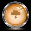 Storm. Internet button. Vector illustration.