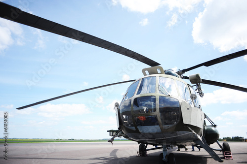 the helicopter in airfield - 64151005