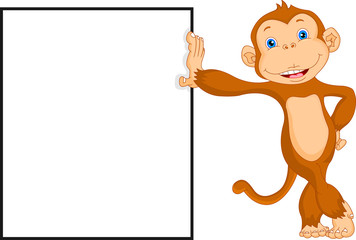 cte monkey with blank sign