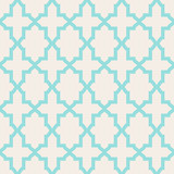 Fototapety Simple abstract arabesque pattern - turquoise and beige.