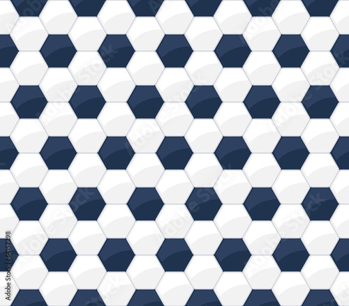 Soccer ball seamless pattern. Football background.