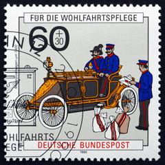 Postage stamp Germany 1990 Postal Vehicle