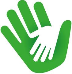 Logo zwei Hände ineinander