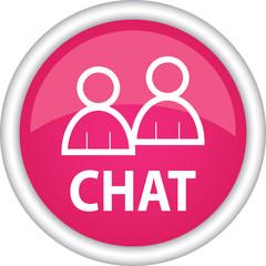 Круглый векторный знак с надписью Chat