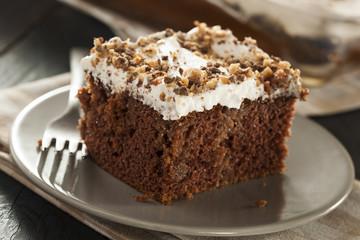 Homemade Toffee and Chocolate Cake